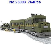 Ausini 25003 764 шт Строительный поезд серия военный Железнодорожный строительный блок игрушка