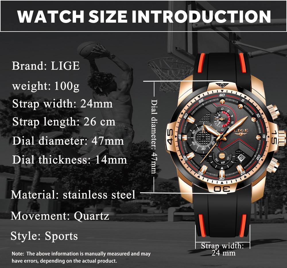 H7f2906c14c3b456d888d0fc970e8b83fK 2020 LIGE Sport Watch Men Brand Luxury Chronograph Silicone Strap Quartz Mens Watches Waterproof Clock Relogio Masculino+Box