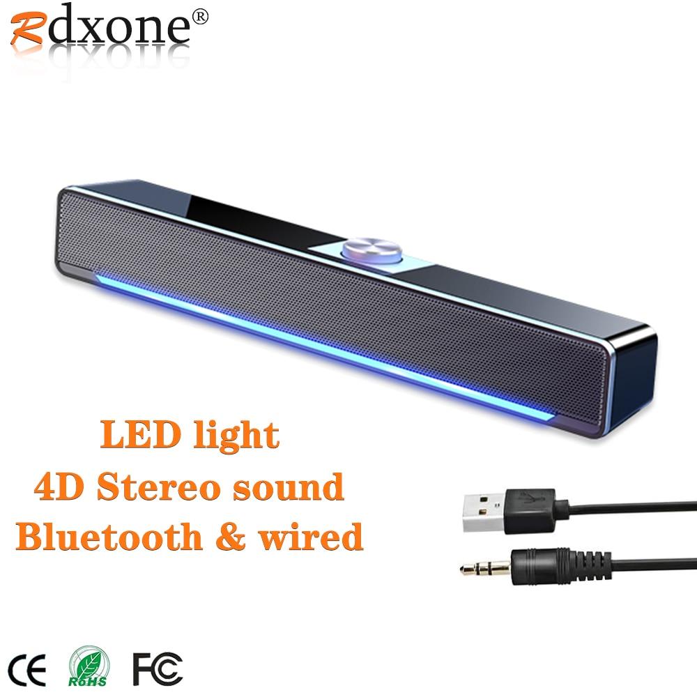 Bluetooth רמקול LED קול בר מחשב רמקולים AUX קווית אלחוטי Bluetooth רמקול מחשב קולנוע ביתי מערכת סראונד בר