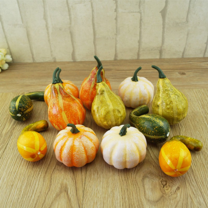 Artificial Foods Creative Lifelike Simulation Artificial Pumpkins Festive Wedding Halloween Party Home Decoration