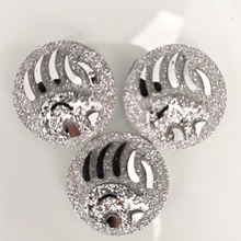 Тайдианские Кабошоны с плоской задней поверхностью 25 мм дизайн коготь серьги браслет серебряный цвет девушки подарок ювелирных изделий Изготовление 50 шт
