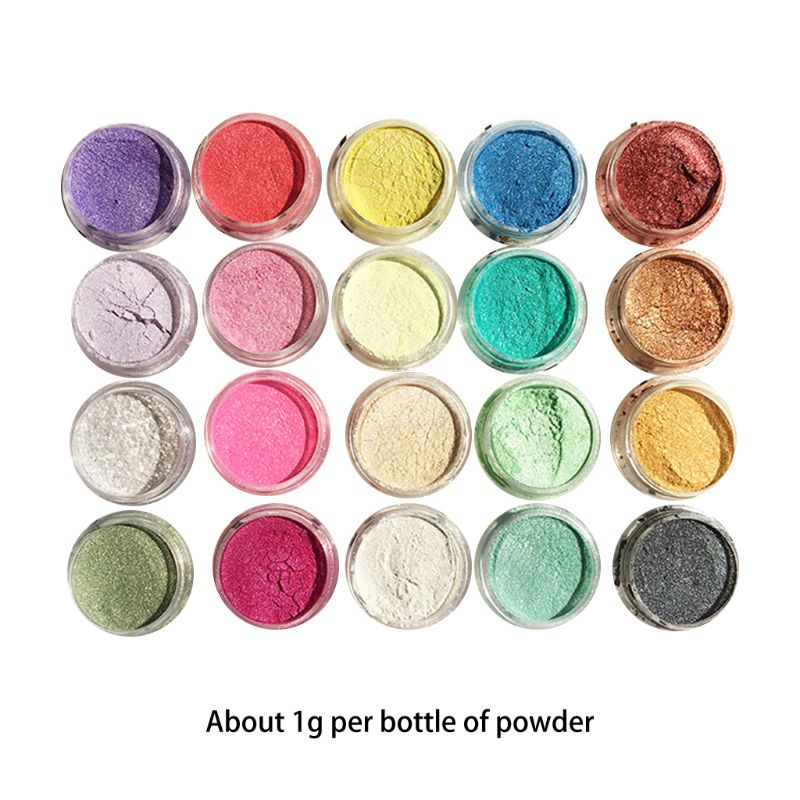 Color-Dye Pigment Pearlescent-Powder DIY Set Jewelry-Filler Crystal-Mud Manual Epoxy-Resin