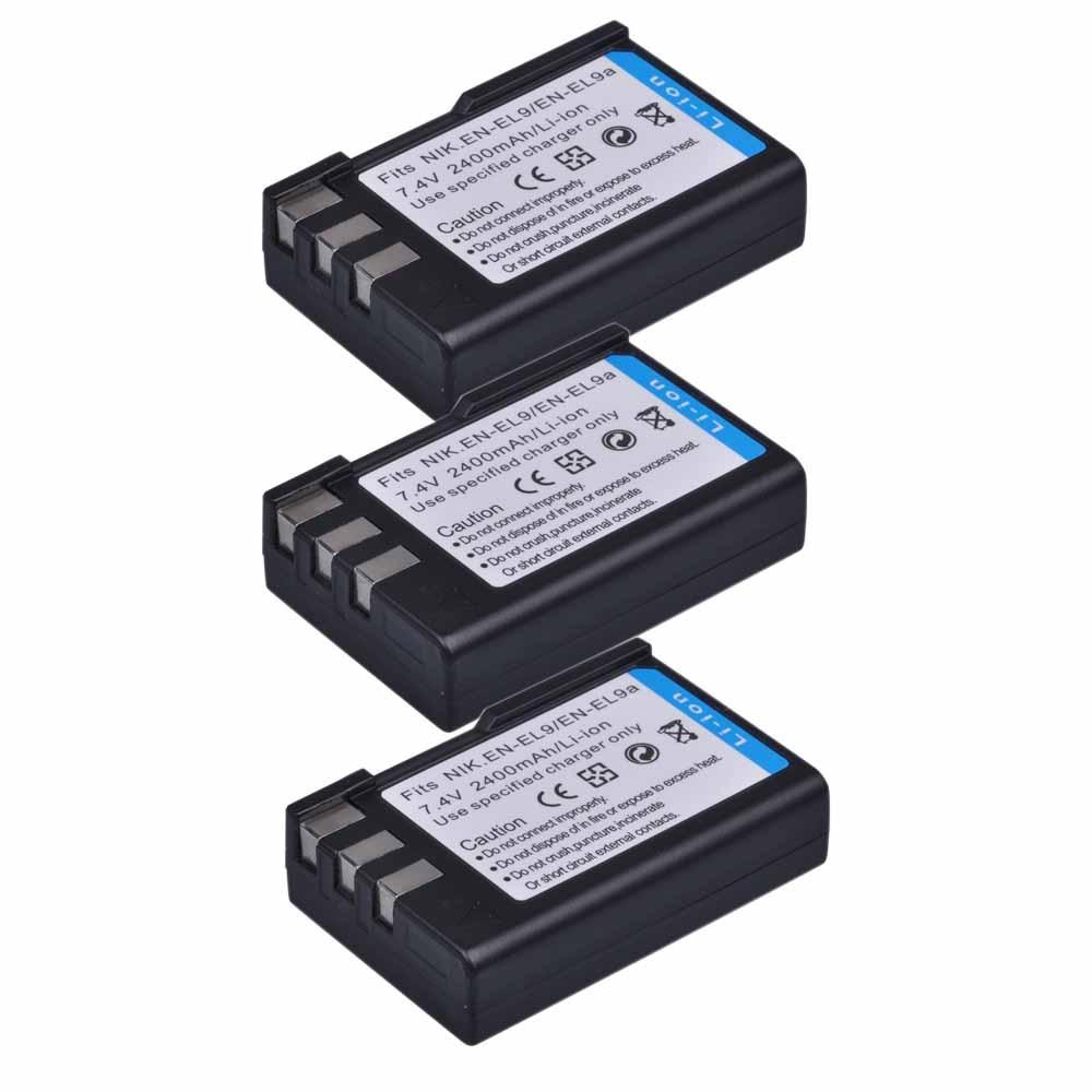2400 мА/ч, EN-EL9 EN-EL9a ENEL9 ENEL9a RU EL9 Батарея для Nikon D40 D40X D60 D3000 D5000 цифровой Камера