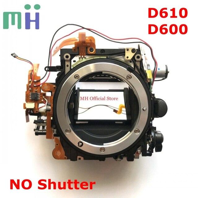 Second hand For Nikon D610 D600 Mirror Box Front Body Bayonet Mount Frame Aperture Motor Diphragm Drive Unit ( NO Shutter )