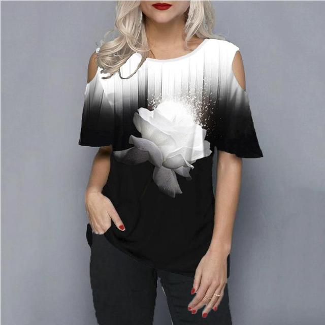 Plus size 5xl 2020 Women Female Blouse Shirt Loose Casual Ladies Tee Shirt New Summer Street hipster Print Tops Half Sleeve 2