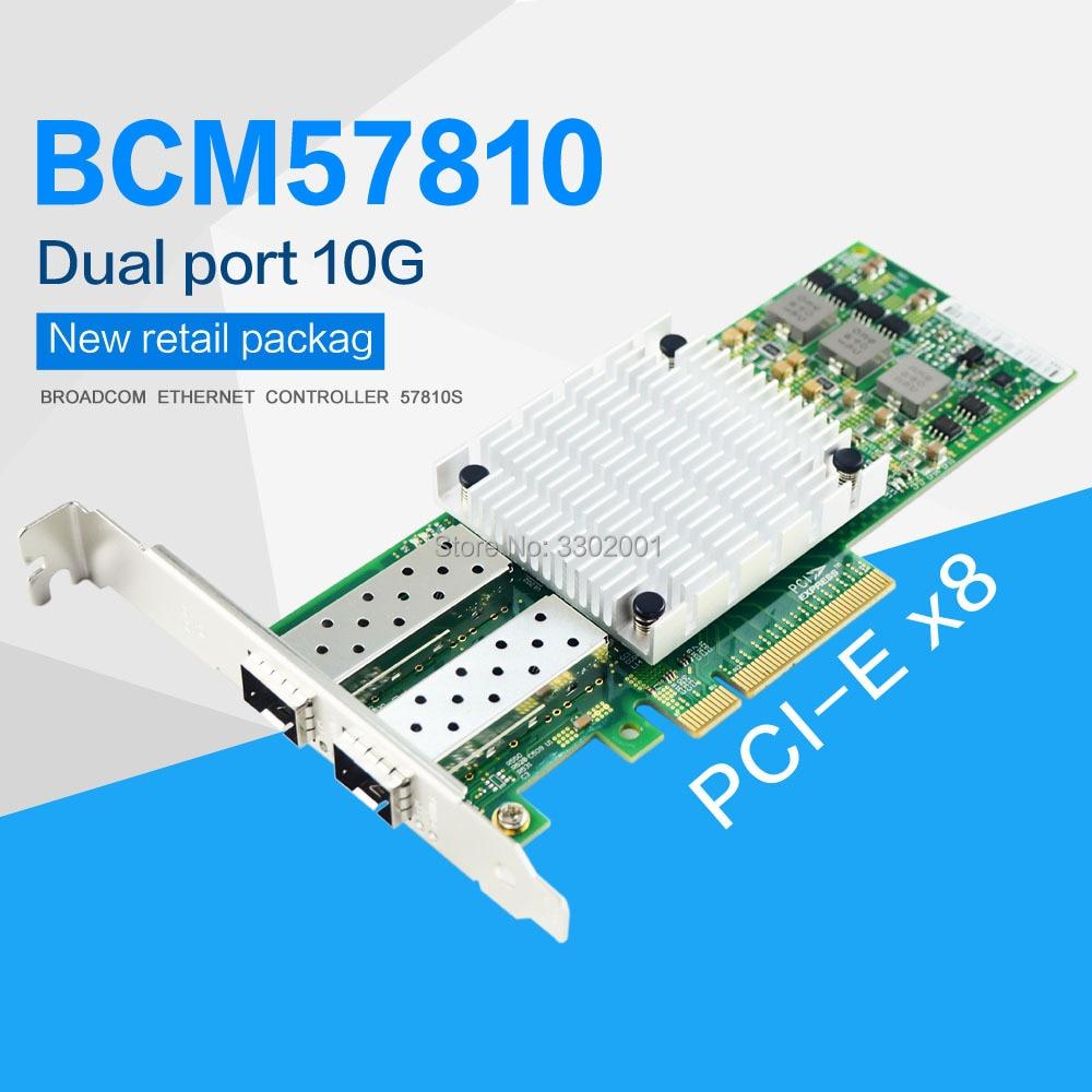 For Broadcom BCM57810S SFP Network Card 10GB Dual Port Optical Fiber Network Card 10Gbps Network Card(China)
