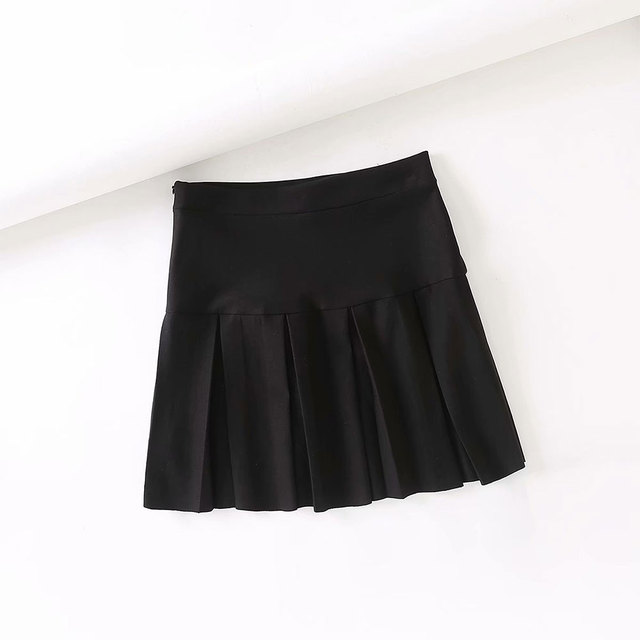 Fashion Women A-Line Hot High Waist Tennis Pleated Mini Preppy Style New Skirt Slim Solid Casual Kawaii Faldas Clothes 2021 2
