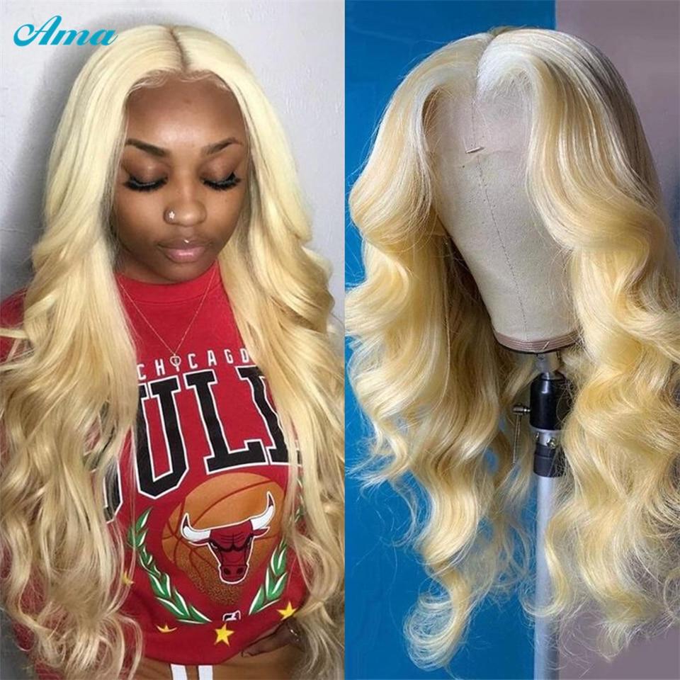 613 loira onda do corpo peruca dianteira do laço brasileiro 613 transparente frente laço perucas de cabelo humano para as mulheres remy 30 polegada peruca dianteira do laço