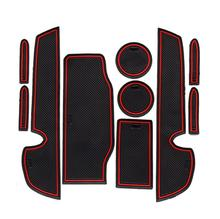 10PCS Car Cushion Non-Slip Gate Slot Pad Cup Mat Interior Door For LEXUS IS250 IS300h IS350 2013-2015 Styling