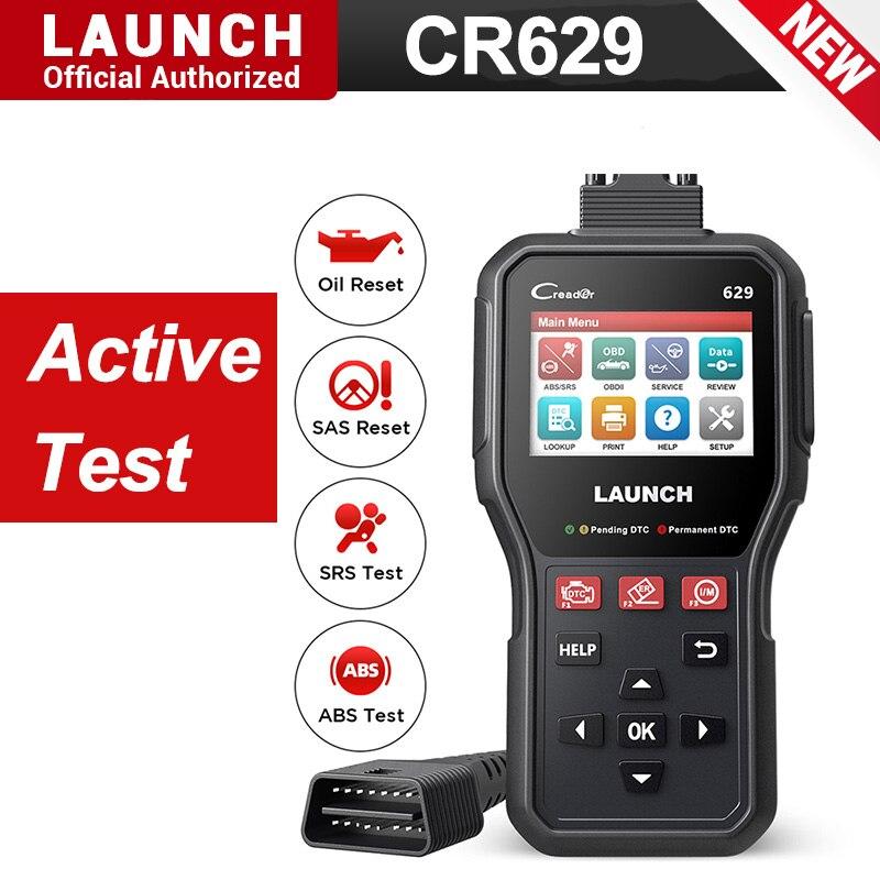 New launch cr629 obd2 scanner abs srs code reader obd 2 autoscanner active test obdii car scanner