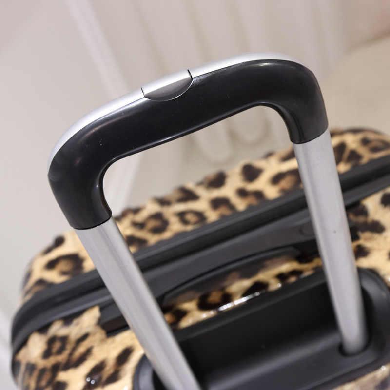 Galanodel moda trole mala zebra leopardo impressão unissex rolando bagagem carry on sacos de viagem na roda bagagem da cabine