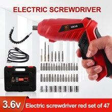 Electric Screwdriver Set Cordless Electric Drill Screwdriver Set Maximum Screw Diameter ABS Material Portable Repair Tool