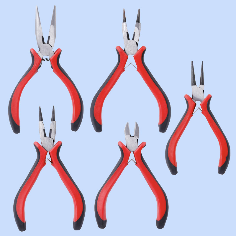 Accessory Making Tool Vice,Multifunction Toothless Pointed Nose Pliers, Cutting Copper Wire Pliers, Scissors Hanging Ring Pliers