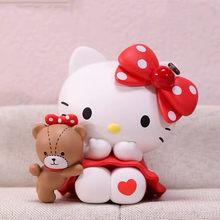 POPMART – figurines de dessin animé, personnages mignons et aléatoires, poupées, Hello Cat, boîte aveugle, 13 styles, cadeaux pour filles