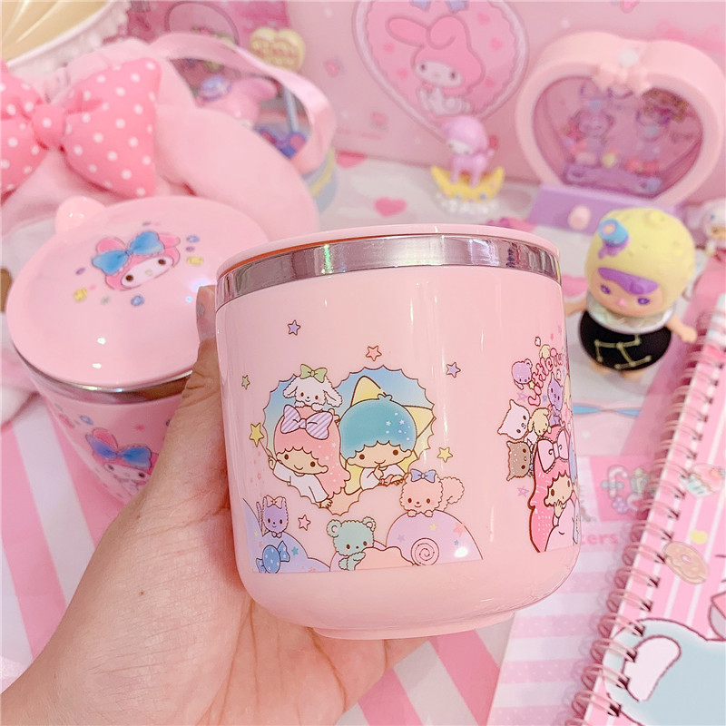 Lovely Melody Twin Stars Stainless Steel Cups Set For Kids Girls Gifts