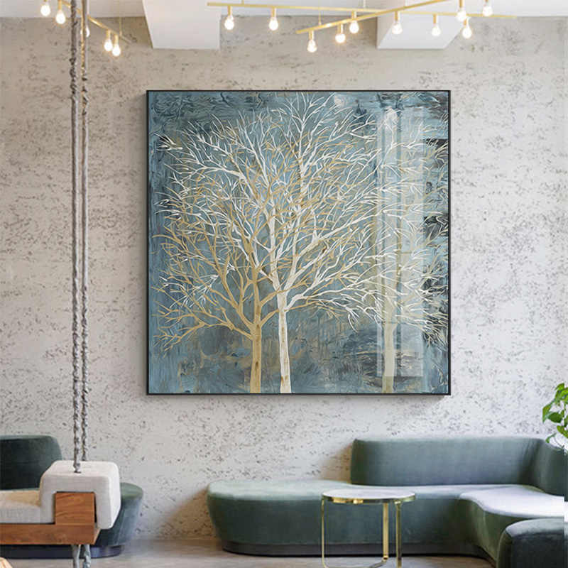 Nordic Style Tree Picture Light luxury canvas painting modern home decor Wall Art Pictures for living room bedroom NO FRAME