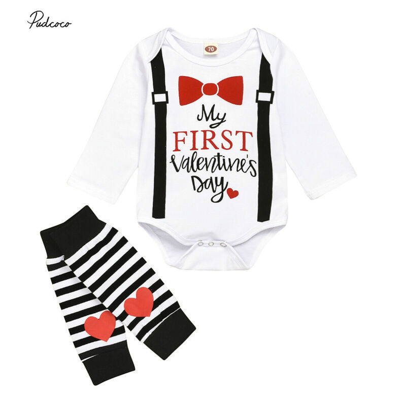 3-24M Infant Baby Boy Tattoo Print Long Sleeve Romper Top Splice Jumpsuit Blouse