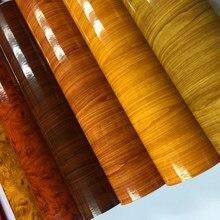 10/20/30/40/50/60cmx152cm brilho grão de madeira acabamento falso textured vinil envoltório rolo folha filme diy impermeável vinil