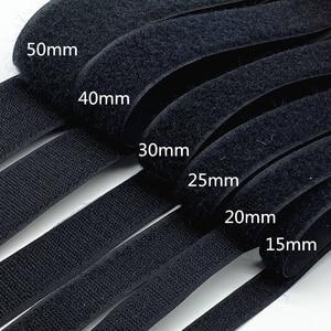 1 Pair 15mm-50mm Black White Fastener Tape Velcros Hook and Loop Tape Cable Ties Sewing Accessories, 1 Yard/lot