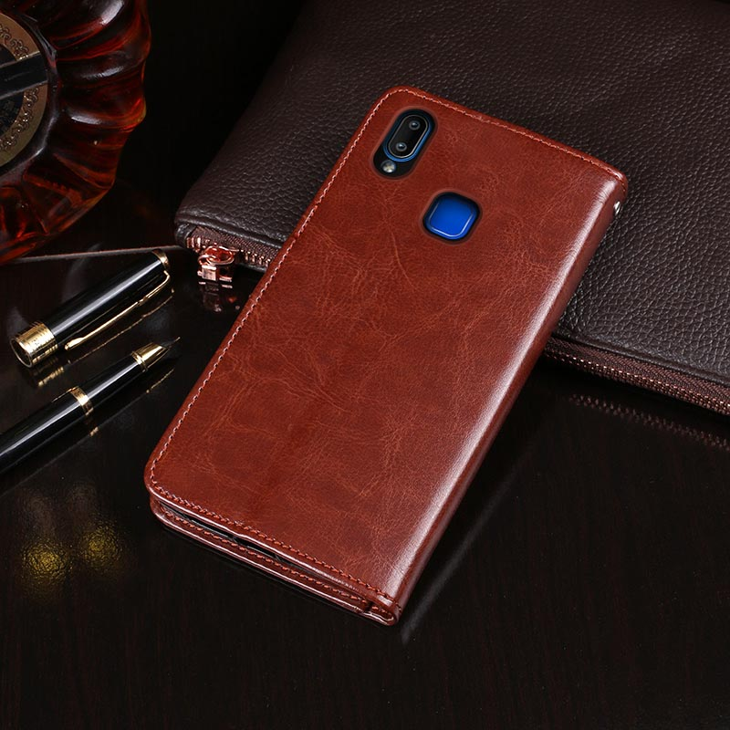 For Vivo Y91i Case Flip Wallet Business Leather Coque Phone Case for Vivo Y91i Cover Capa Accessories(China)