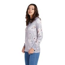 Fadzeco 2019 Otoño e Invierno nueva camiseta casual de mujer con capucha de manga larga