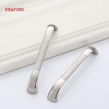 KK& FING современный цинк никелевый сплав матовый шкаф ручки кухонный шкаф дверные ручки для выдвижных ящиков оборудование для обработки мебели