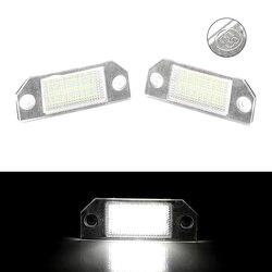 2Pcs Canbus LED License Plate Lights For Ford Focus MK2 2003 2004 2005 2006 2007 2008 12V White Car Number License Plate Lamp