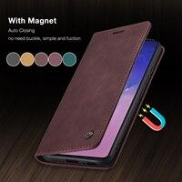 Funda de cuero de lujo para Xiaomi Redmi Note 8, 9, K30 Pro, Tarjetero con tapa magnética, para Xiaomi Mi 11, 9, 10 T Lite