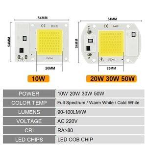 Image 2 - LED 성장 COB 칩 Phyto 램프 전체 스펙트럼 AC220V 10W 20W 30W 50W 실내 식물 모 종 성장 및 꽃 성장 Fitolamp