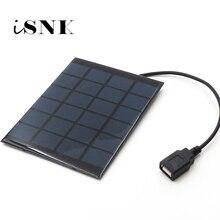 Зарядное устройство для солнечной панели, 6 в, поликристаллический кабель для самостоятельной зарядки солнечной батареи, 5 В, выход USB, солнечная панель 6VDC 2 3 5 6 10 20 Вт