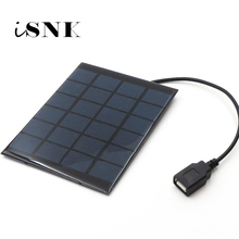 Solar Panel Charger 6V Solar Cell Polycrystalline DIY Solar Charge Battery cable 5V USB output Solar Panel 6VDC 2 3 5 6 10 20 W
