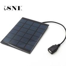 Solar Panel Charger 6V Solar Cell Polycrystalline DIY Solar Charge Battery cable 5V USB output Solar Panel 6VDC 2 3 5 6 10 20 W