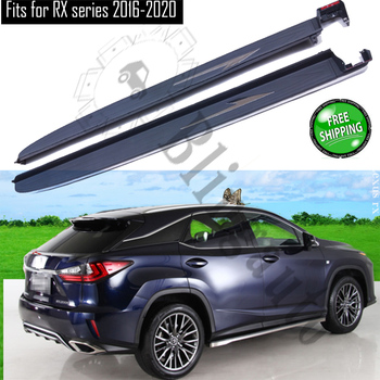 Fits for L exus RX350 RX450H F SPORT 2016-2020 2Pcs left right running board side steps nerf bar car pedal side stairs