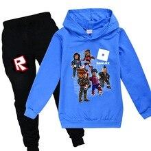Sweatshirts Hoodies ROBLOX Girls Sportswear Baby Kids Fashion Coat Tees Toddler Boys