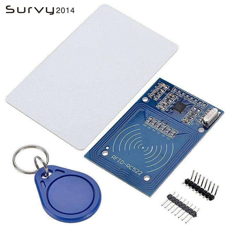 Бесплатная доставка RFID модуль RC522 наборы S50 13,56 МГц 6 см с тегами SPI запись и чтение для arduino uno 2560