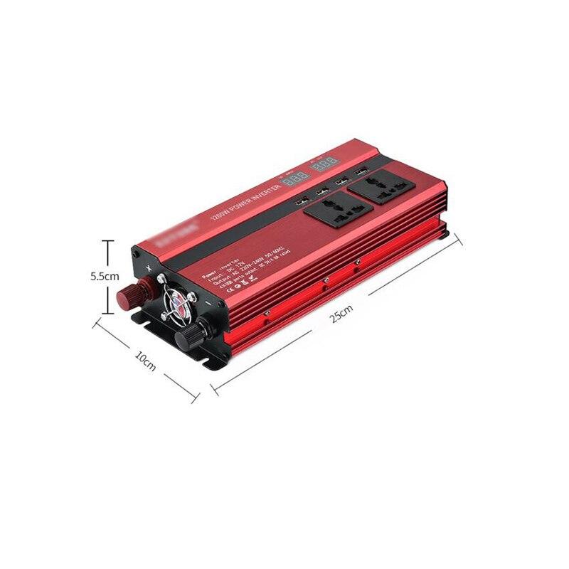 Neue Berufs 1200W Power Inverter DC 12V zu AC 220V Digital LCD Display Auto Konverter für Haushalt geräte