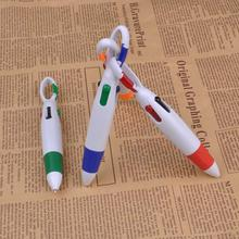 Ballpoint-Pen Keychain Stationery Office-Supplies Students-Pen Cartoon Press with Carabiner