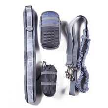 yooap Dog running traction set four-piece Pet sports reflective rope belt training package