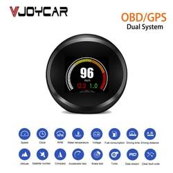 Vjoycar VP11 New Car HUD Gauge OBD+GPS Head Up Display Small & Smart Digital Odometer On-board Computer HUD RPM Compass KM/H MPH