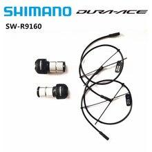 Shimano dura ace SW-R9160 shifter di2 2x11s remoto triathlon deslocamento lidar com E-TUBE tt guiador com sd50 300mm cabo bicicleta de estrada