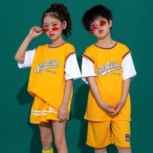 Children'S Hip-Hop Dance Costumes Boys School Students Uniform Suits Girls Cheerleaders Costumes Jazz Street Dance Wear SL2854