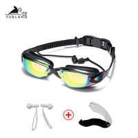 Schwimmen Brille Frauen Männer Schwimmen Brille Wasserdicht Anzug HD Anti-Fog UV Einstellbare Brillen Für Pools Mit ohrstöpsel