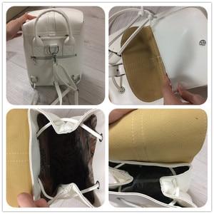 Image 2 - Miyahouse PU skórzane plecaki modne kobiece sznurkiem torby podróżne Retro torby szkolne kobiety wysokiej jakości plecak Mochila