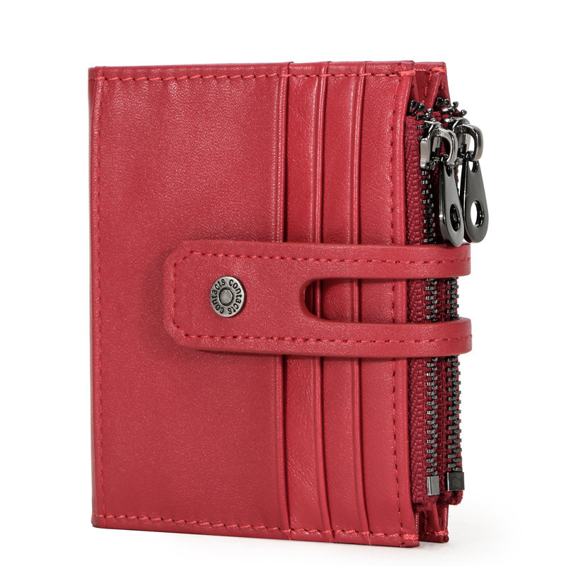 Trend Rfid Guard Against Theft Pay By Card Set Package Genuine Leather More Function Hasp Clip European style designer purses image