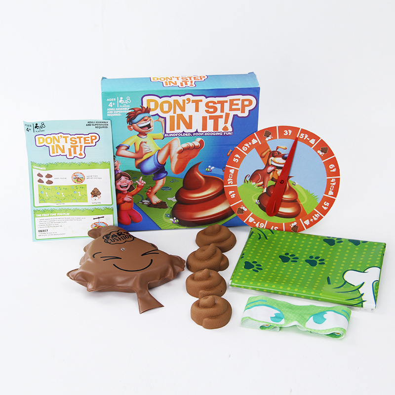 Don't Step In It Interaction Party Game Laughting  Game Blindfolded Poop Dodging Fun For Kids Spoof Amusing Children Funny Games