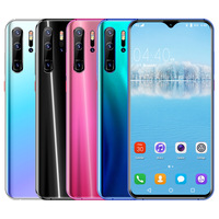 Global Version P30 PRO Android Smartphone 6.3inch Cellphone Dual SIM Mobile phone 3G Cell Smart Phones Face unlock handset