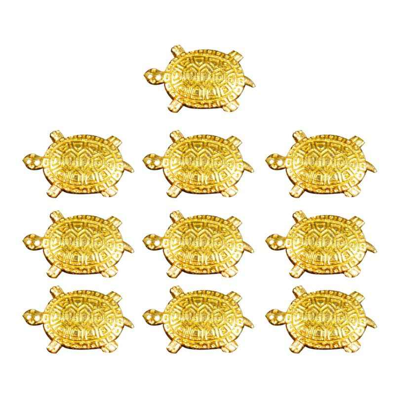 10Pcs Feng Shui Golden Money Turtle Japanese Lucky Tortoise Guarding Praying for Fortune Home Fortune Wealth Lucky Gift