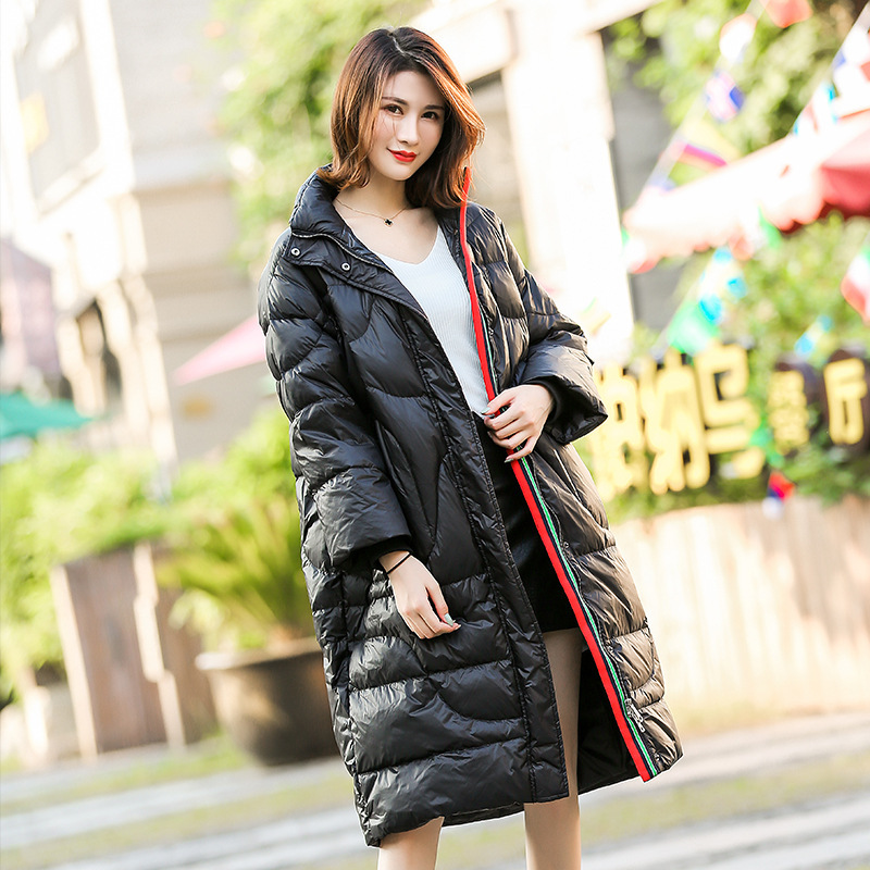 Winter Woman Jackets 2020 Casual Loose Long Coat White Duck Down Jacket Women New Parkas Casacas Para Mujer KJ479
