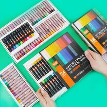 Miękki olej pastelowy suchy wysokiej jakości ciężkie kolory kredki do rysowania akcesoria papiernicze profesjonalne 36 wosk kolorowy kredki tanie tanio Zestaw Other Pastelowe oleju