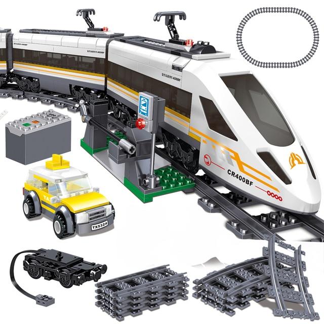 641pcs Electric City Train with Motor Building Blocks Bricks